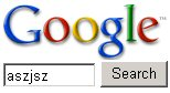 search for 'Aszjsz' on Google