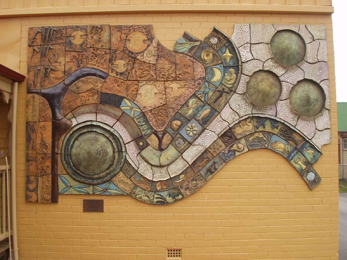 Lilydale ceramic mural for Artwork on tile ceramic mural