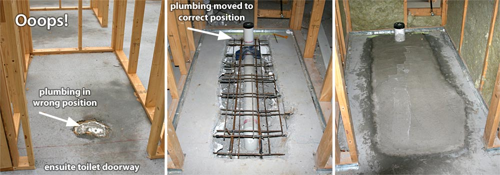 PIPES IN THE WRONG PLACE IN SLAB