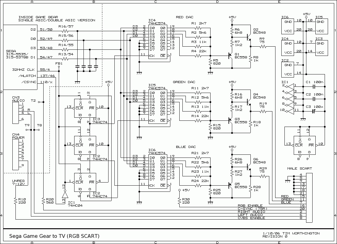 Lcd tv wiring diagram free vehicle wiring diagrams how to connect a sega game gear to a tv rh members optusnet com au lcd freerunsca Image collections