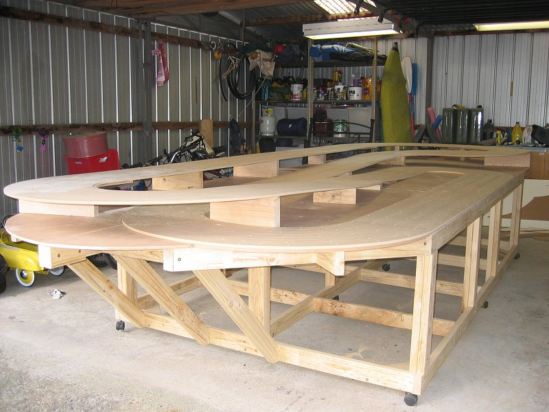 how to build a slot car track table