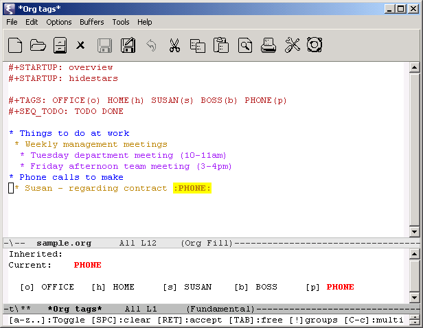 Using dates and times in Emacs org-mode