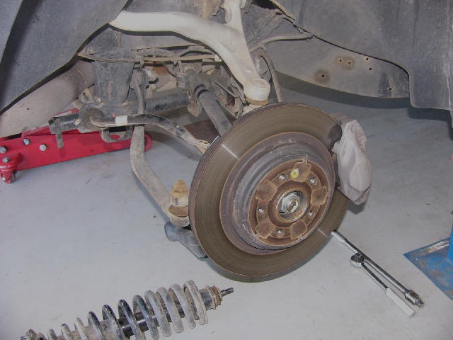 Disassembled ML Benz Independent Rear Suspension
