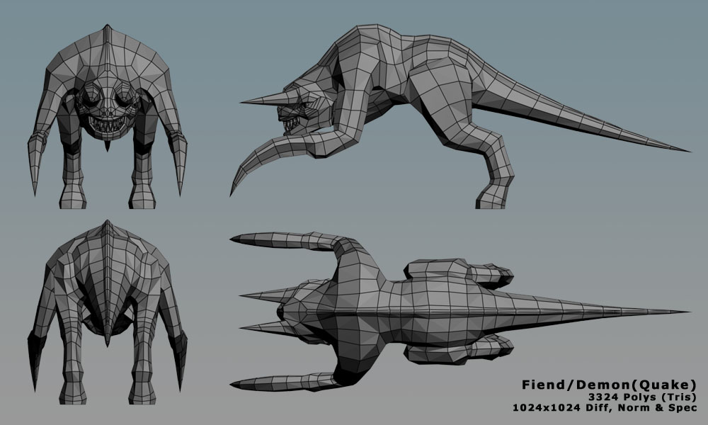 Fiend/Demon from Quake — polycount Quake Fiend
