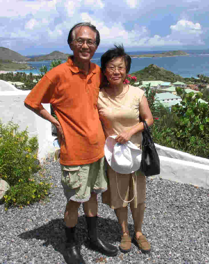 Sing Lee & Susan Low, St Maarten, Dutch Antilles, Oct 2004
