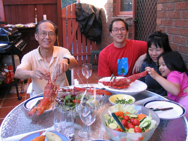 Christmas Eve 2004 Melbourne LobsterBBQ