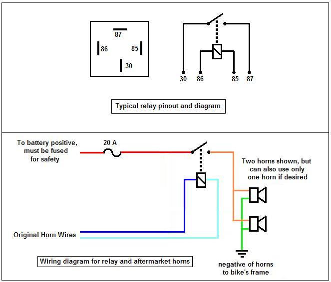 similiar horn relay wiring diagram keywords horn relay wiring diagram positive ground horn circuit diagrams