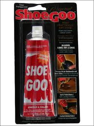 Clear SHOO GOO. for protecting wing tips