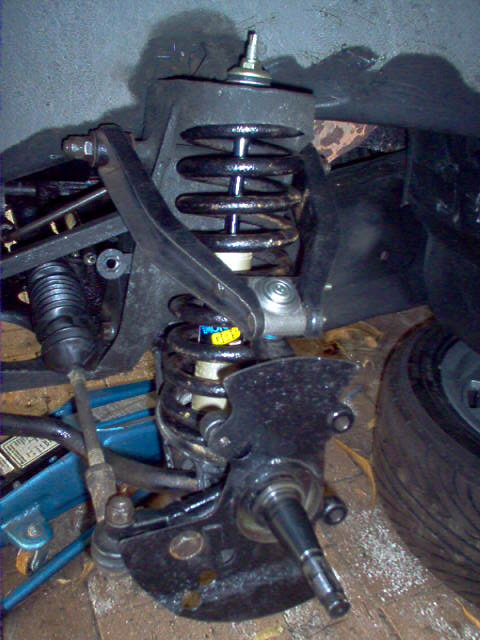 Front suspension reassembled