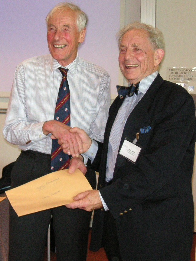 Sir Adrian Cadbury presents Certificate