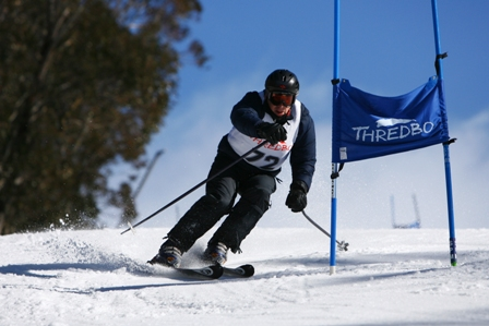 Shann racing in Thredbo 2007 Masters