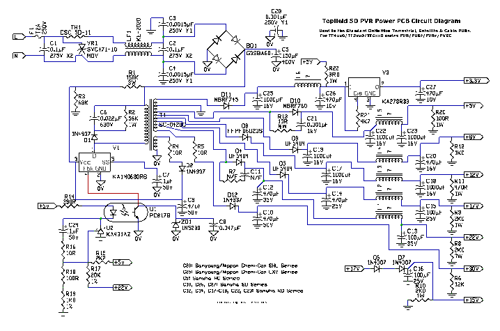 Toppy Power Board Circuit Diagram