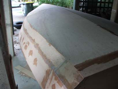 The hull before glassing