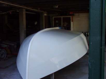 Complete hull glass over then paint