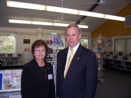 The American Ambassador and Mrs Dyer